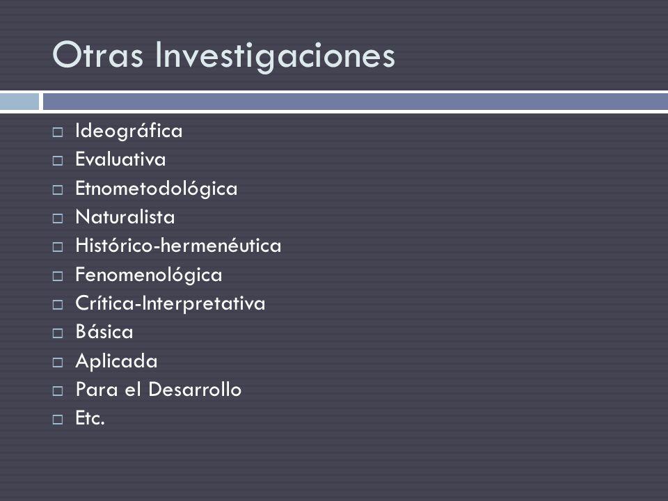 Otras Investigaciones