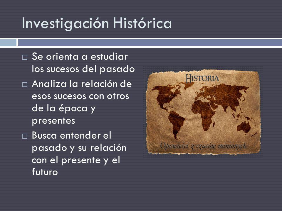 Investigación Histórica