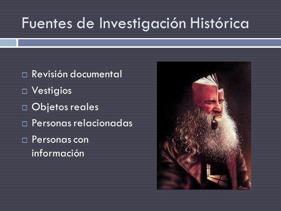 Fuentes de Investigación Histórica