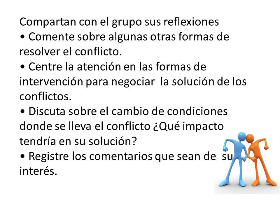 Compartan con el grupo sus reflexiones