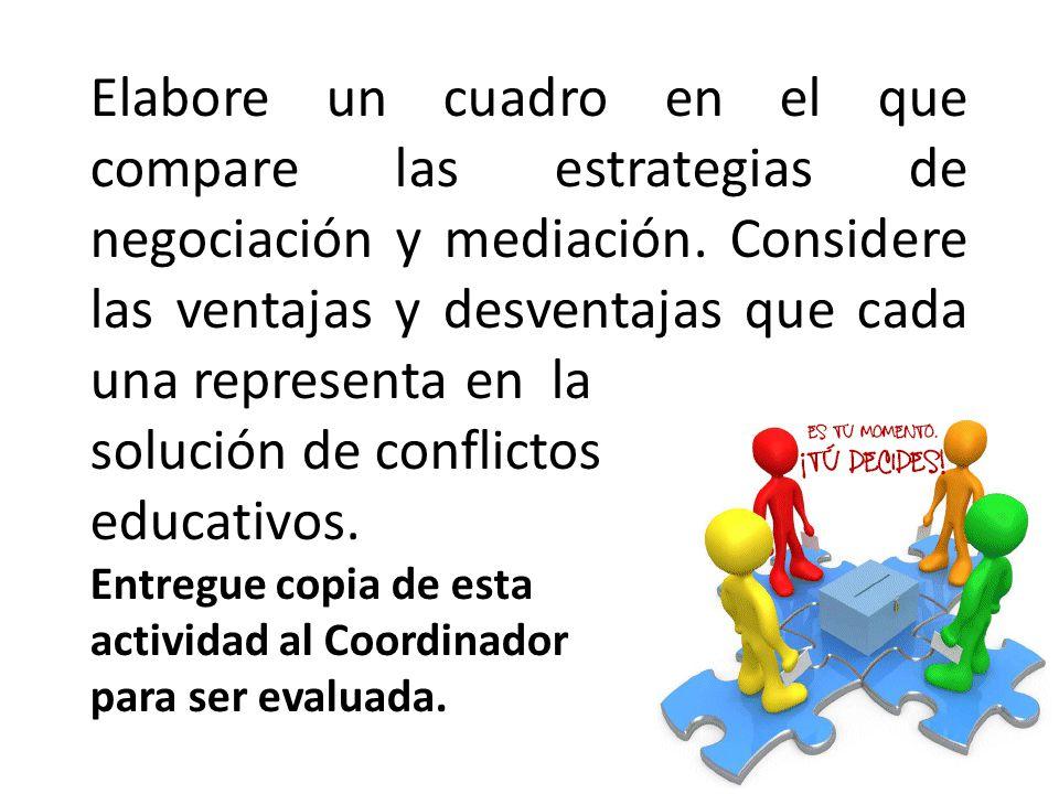 solución de conflictos educativos.