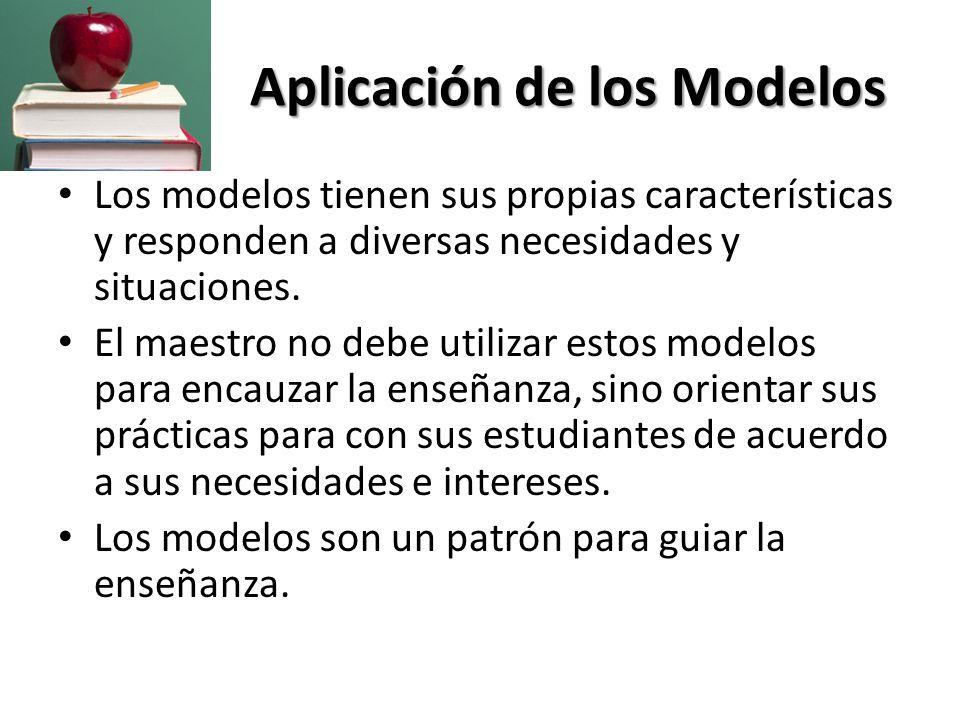 Aplicación de los Modelos