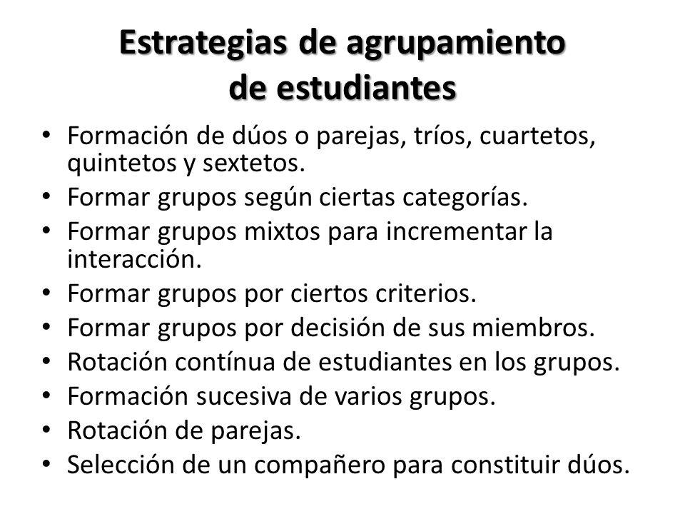 Estrategias de agrupamiento de estudiantes