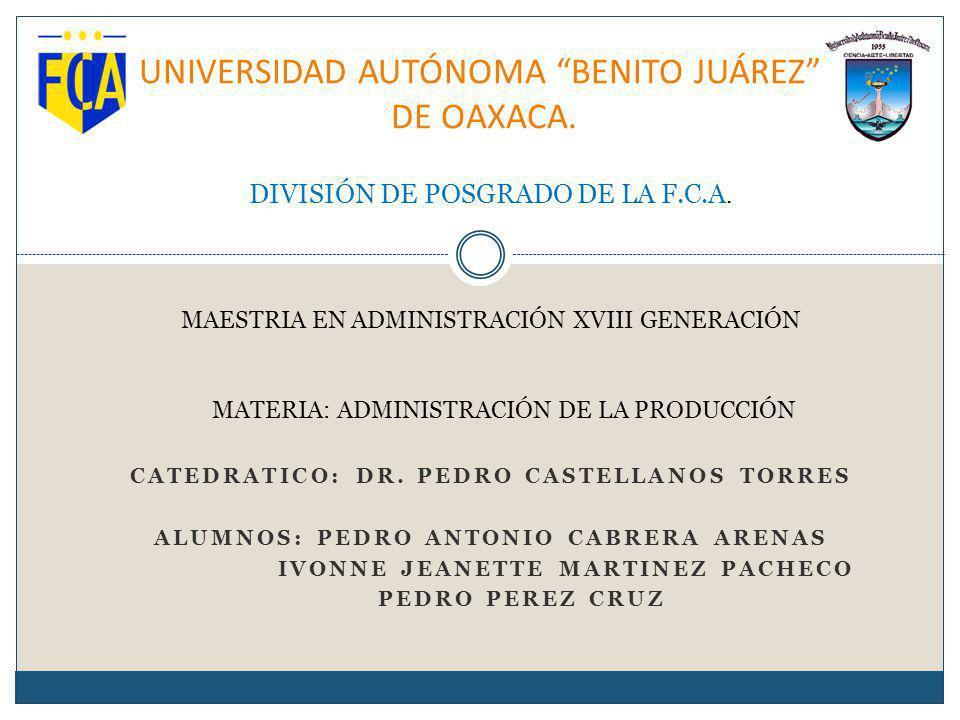UNIVERSIDAD AUTÓNOMA BENITO JUÁREZ DE OAXACA.