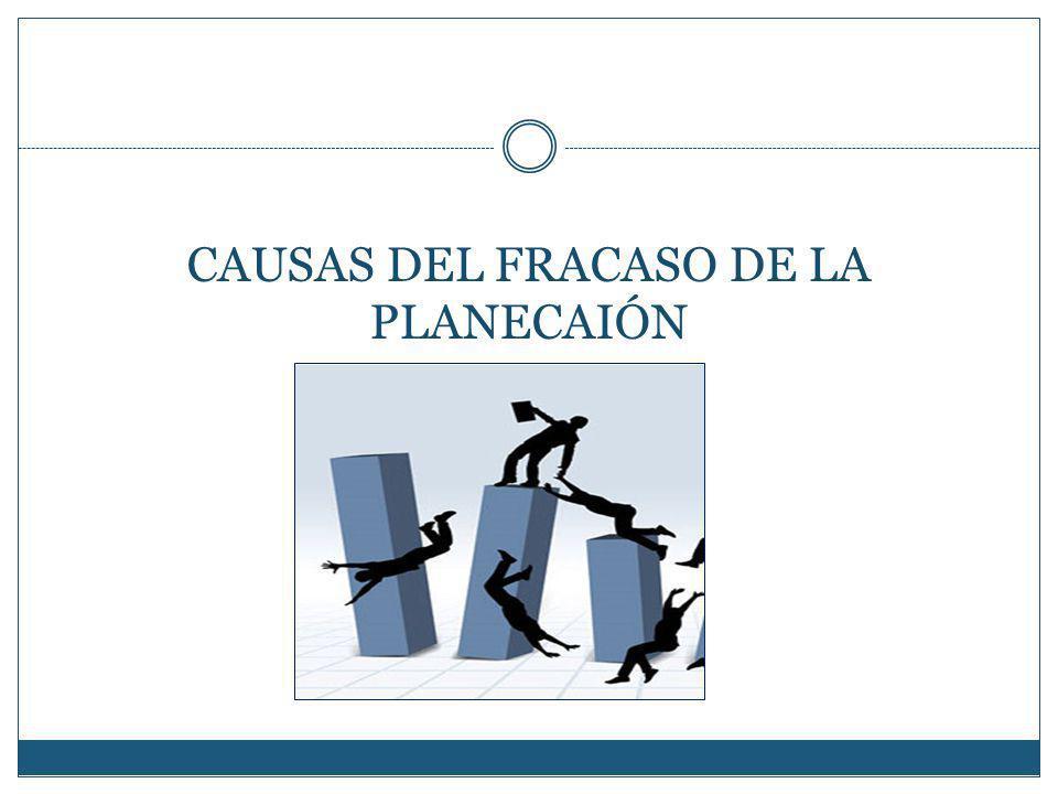 CAUSAS DEL FRACASO DE LA PLANECAIÓN