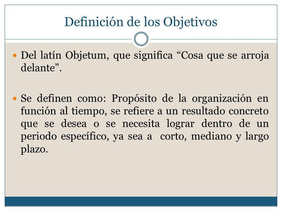 Definición de los Objetivos