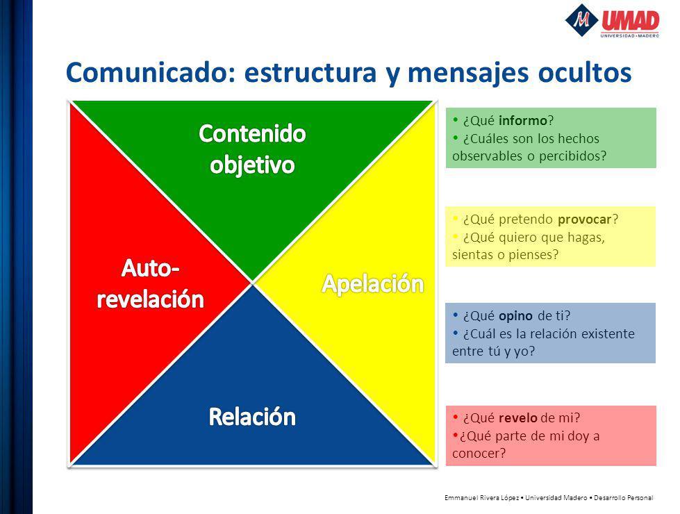 Comunicado: estructura y mensajes ocultos