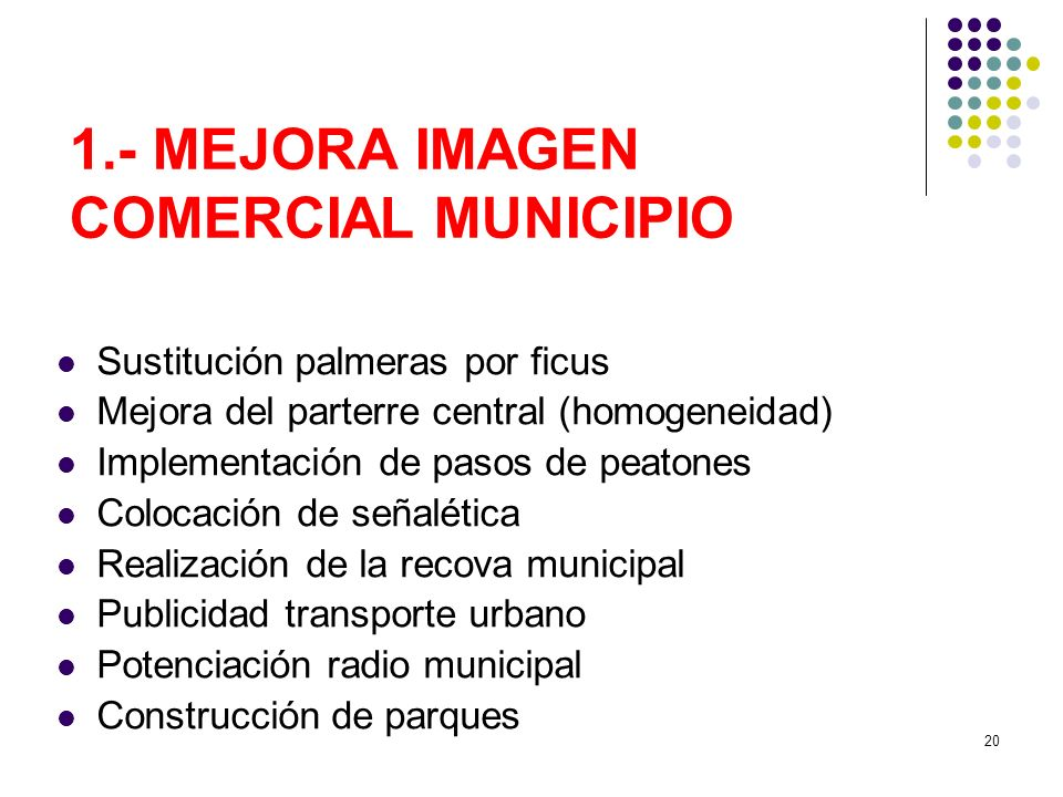 1.- MEJORA IMAGEN COMERCIAL MUNICIPIO