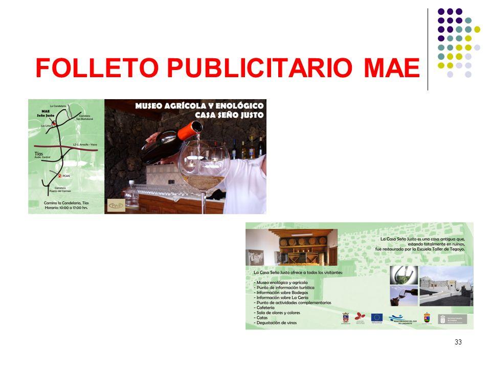 FOLLETO PUBLICITARIO MAE