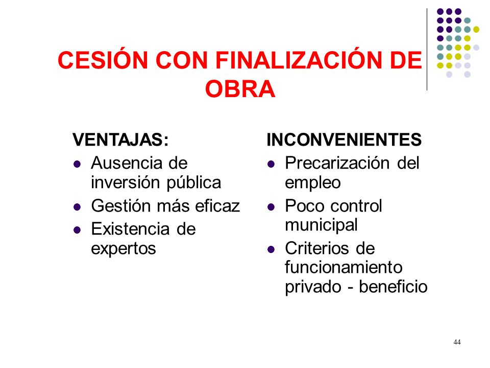 CESIÓN CON FINALIZACIÓN DE OBRA