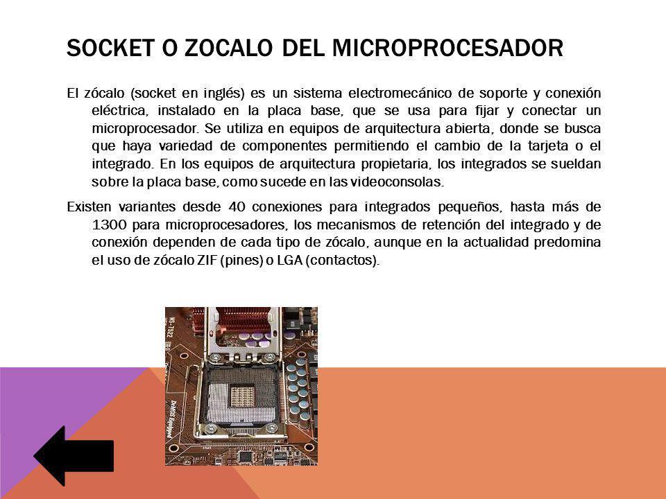 socket o zocalo del microprocesador