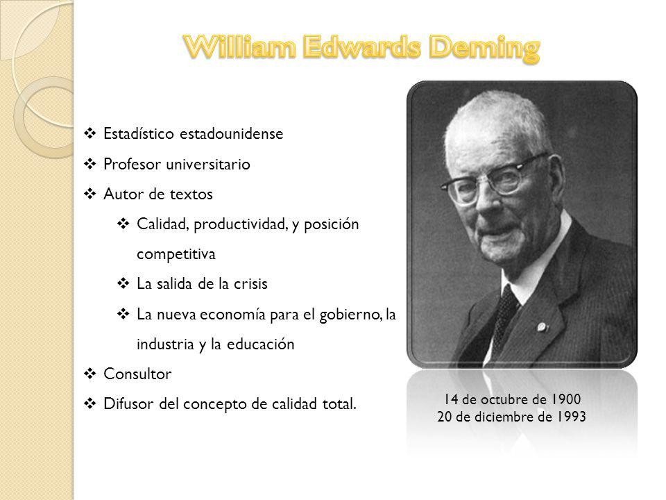 edward deming Deming's basic beliefs w edward deming is considered by many to be the father of the total quality management movement all of w edward deming's theories are based on the simple concept that.