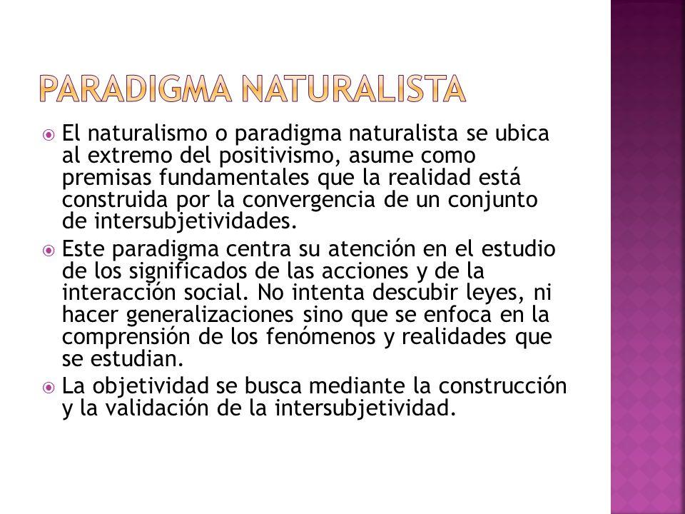 PARADIGMA NATURALISTA