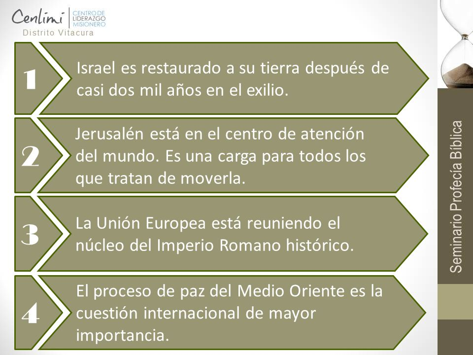 1 Israel es restaurado a su tierra después de casi dos mil años en el exilio. 2.