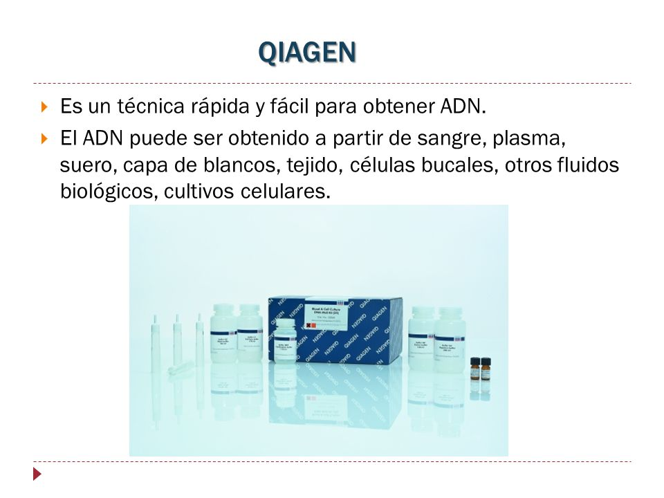 QIAGEN Es un técnica rápida y fácil para obtener ADN.