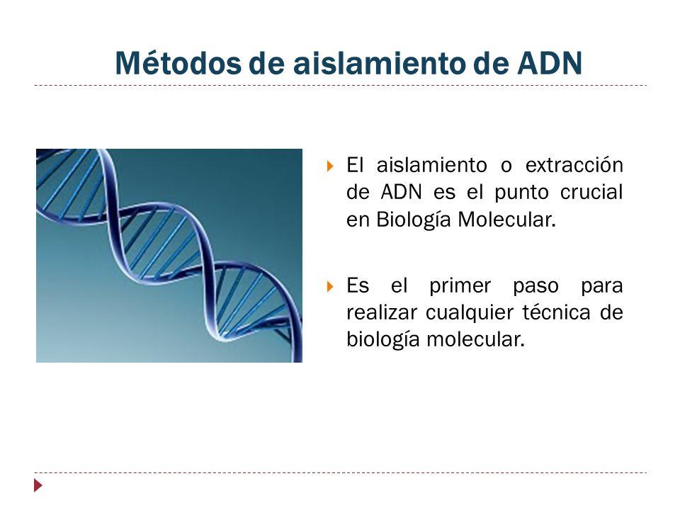 Métodos de aislamiento de ADN