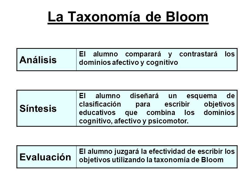 La Taxonomía de Bloom Análisis Síntesis Evaluación