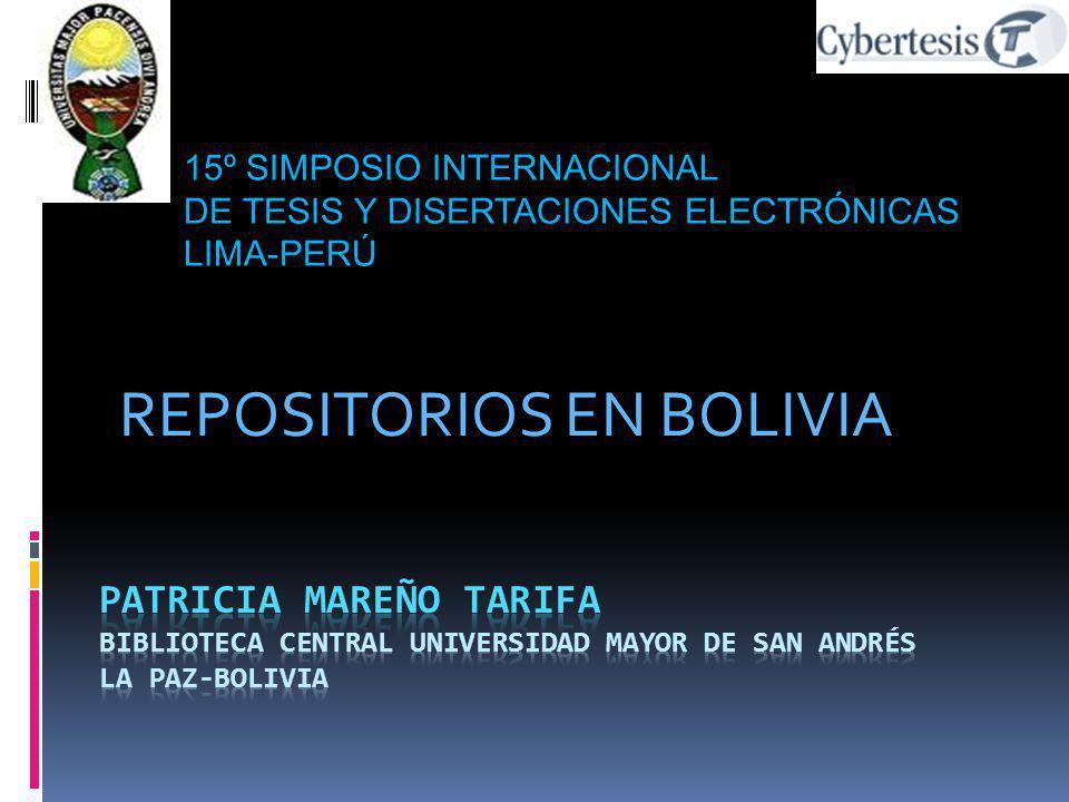 REPOSITORIOS EN BOLIVIA