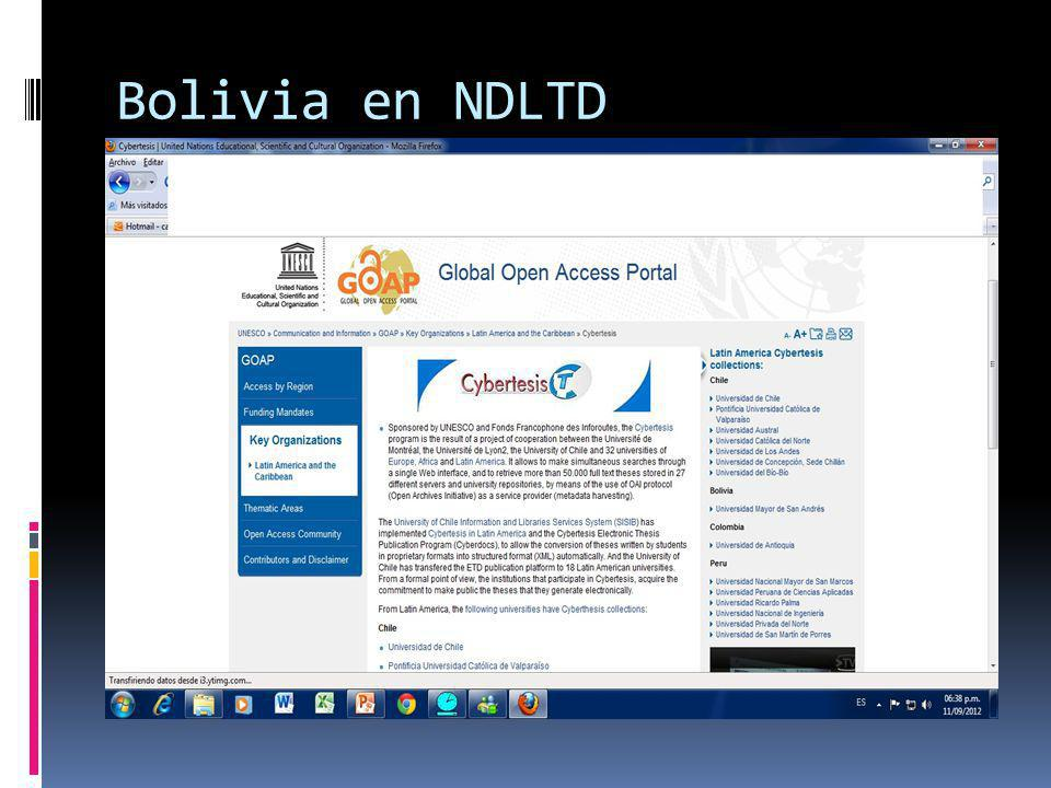 Bolivia en NDLTD
