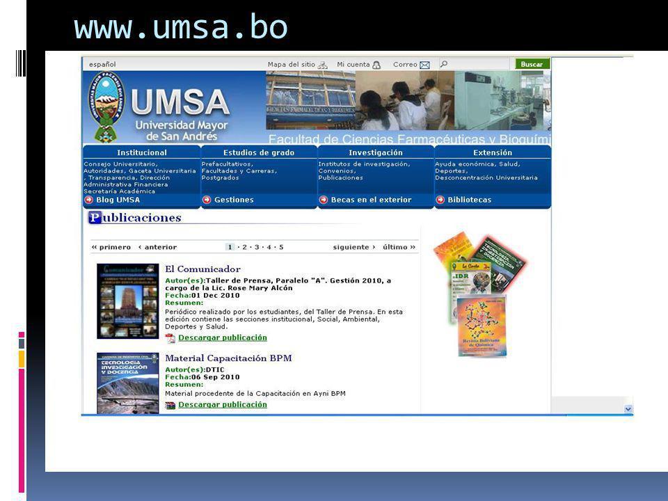 www.umsa.bo