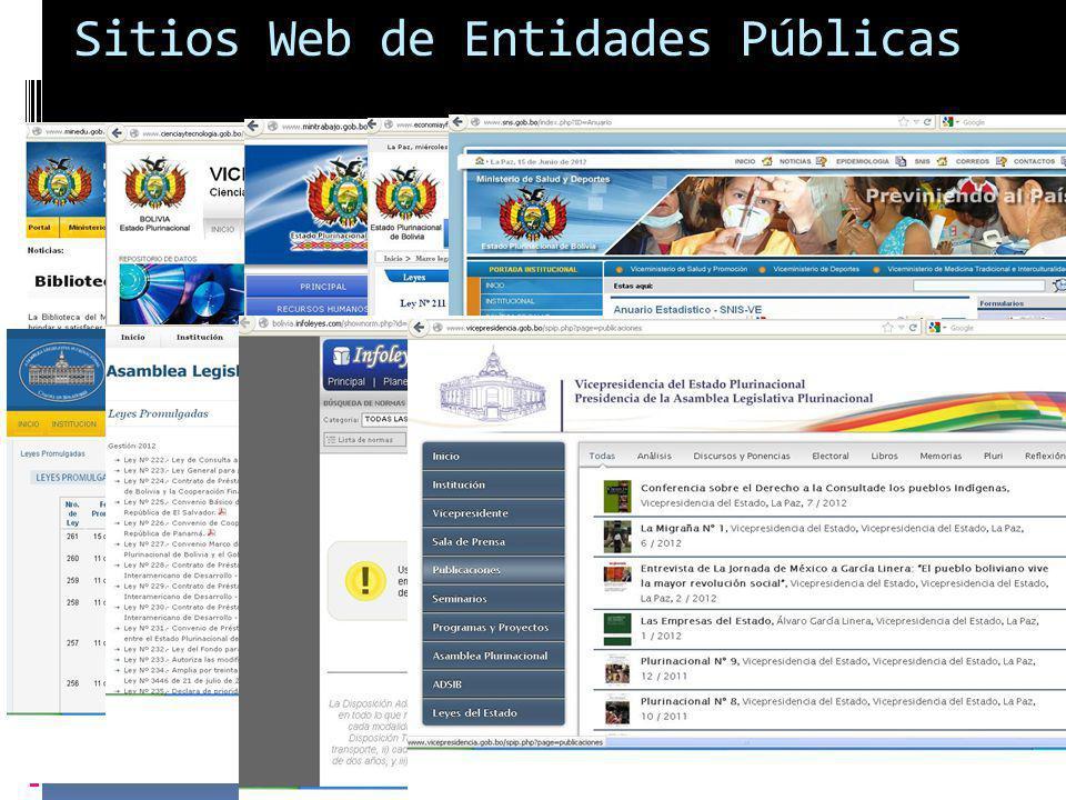 Sitios Web de Entidades Públicas