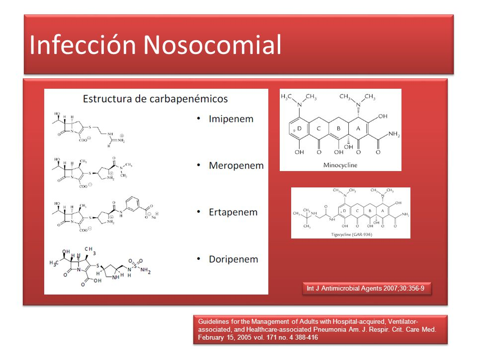 Infección Nosocomial Int J Antimicrobial Agents 2007;30:356-9