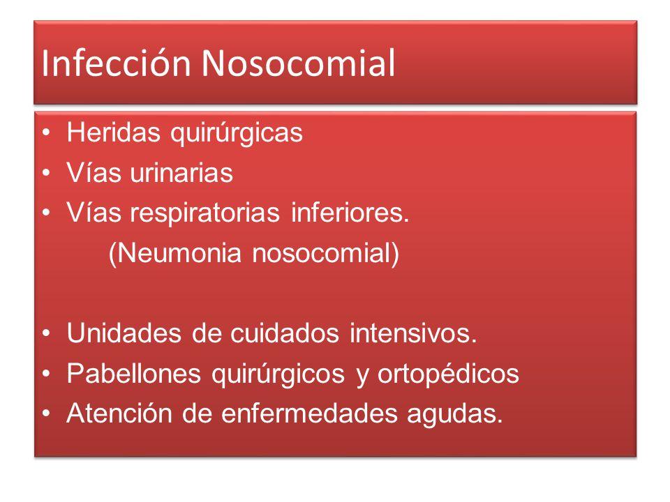 Infección Nosocomial Heridas quirúrgicas Vías urinarias