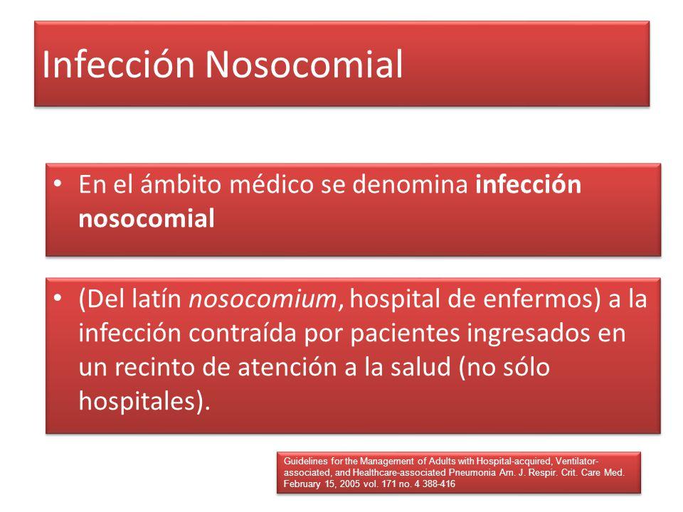 Infección Nosocomial En el ámbito médico se denomina infección nosocomial.
