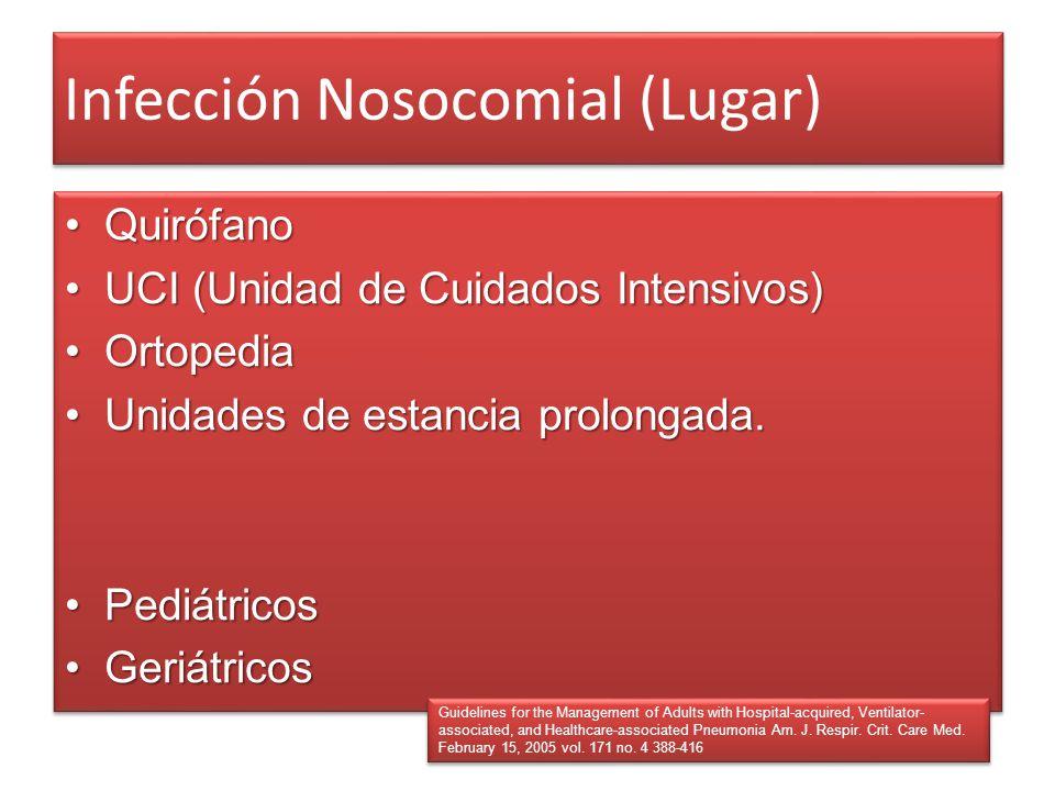 Infección Nosocomial (Lugar)