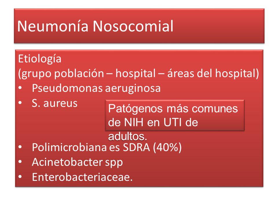 Neumonía Nosocomial Etiología