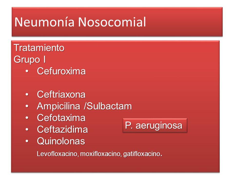 Neumonía Nosocomial Tratamiento Grupo I Cefuroxima Ceftriaxona