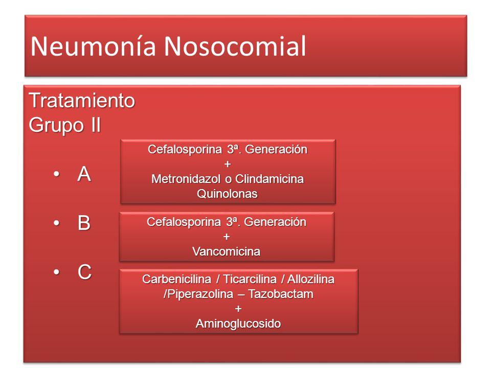 Neumonía Nosocomial Tratamiento Grupo II A B C
