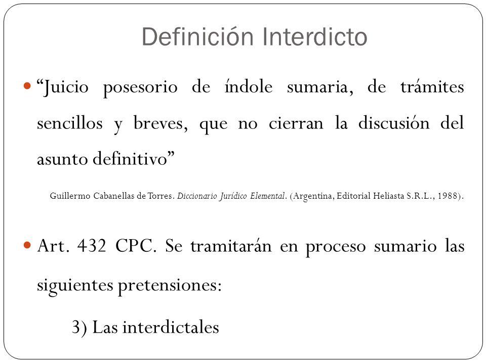Definición Interdicto