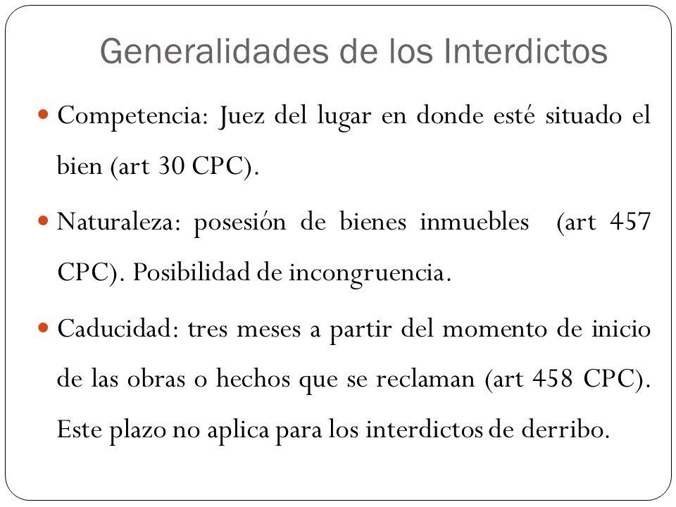 Generalidades de los Interdictos