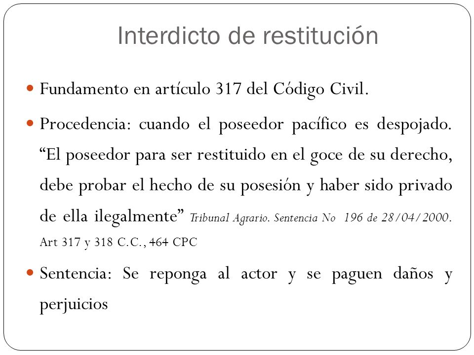 Interdicto de restitución