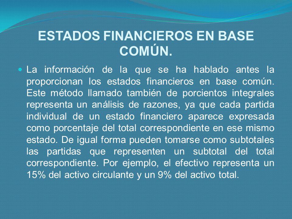 ESTADOS FINANCIEROS EN BASE COMÚN.