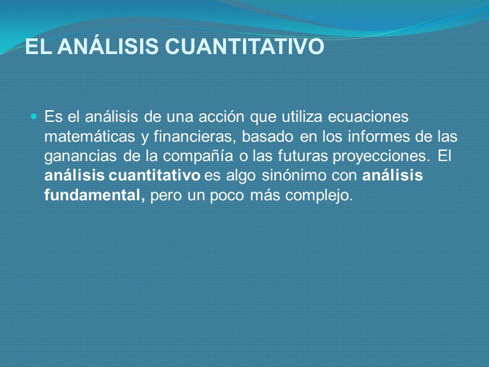 EL ANÁLISIS CUANTITATIVO