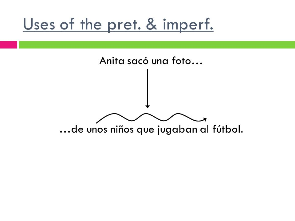 Uses of the pret. & imperf.