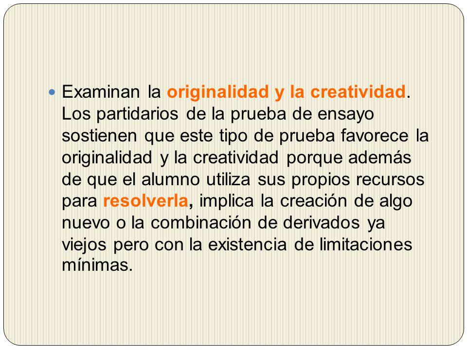 Examinan la originalidad y la creatividad