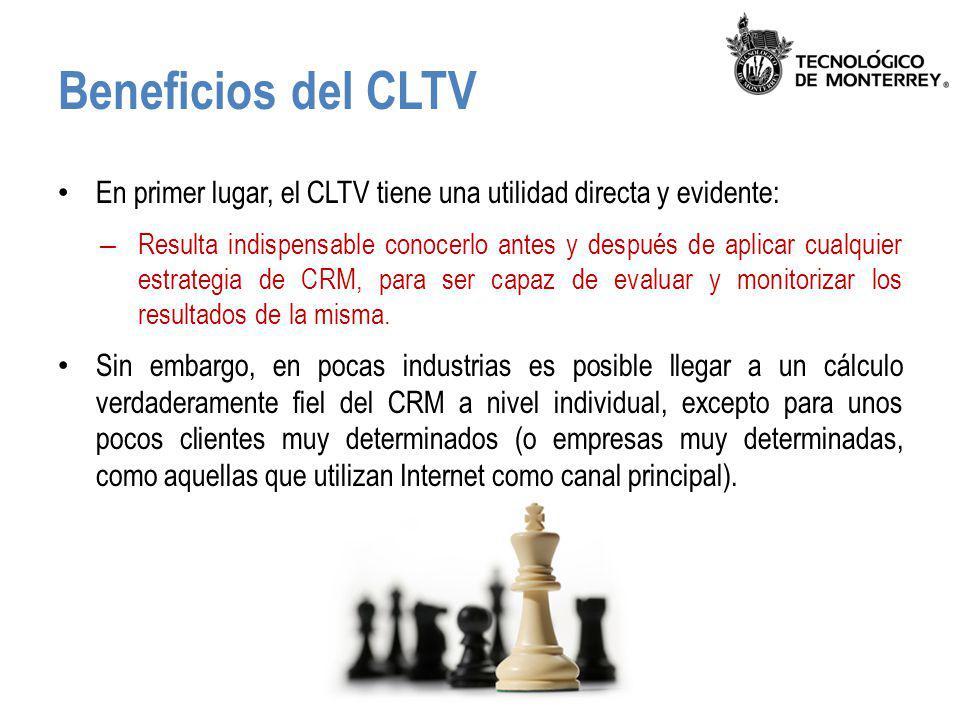 Beneficios del CLTV En primer lugar, el CLTV tiene una utilidad directa y evidente: