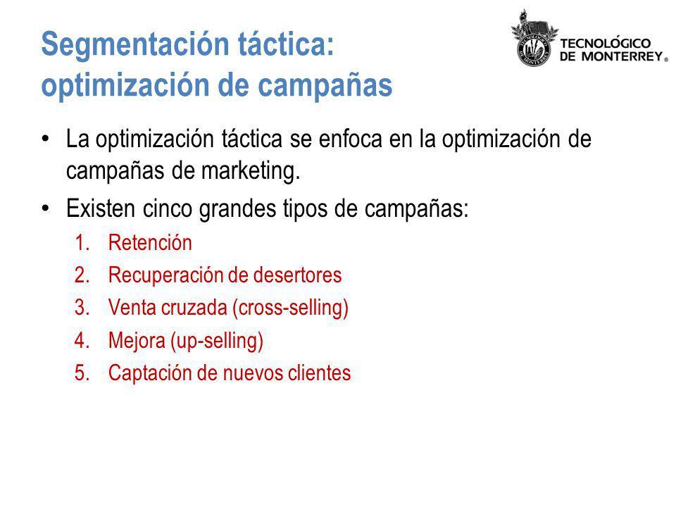 Segmentación táctica: optimización de campañas