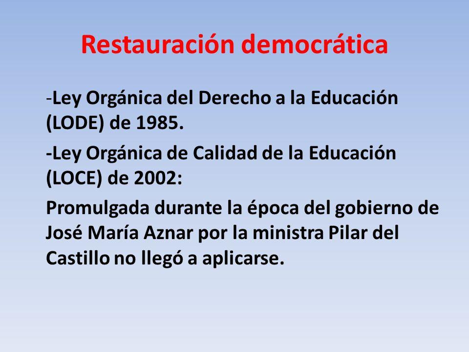 Restauración democrática