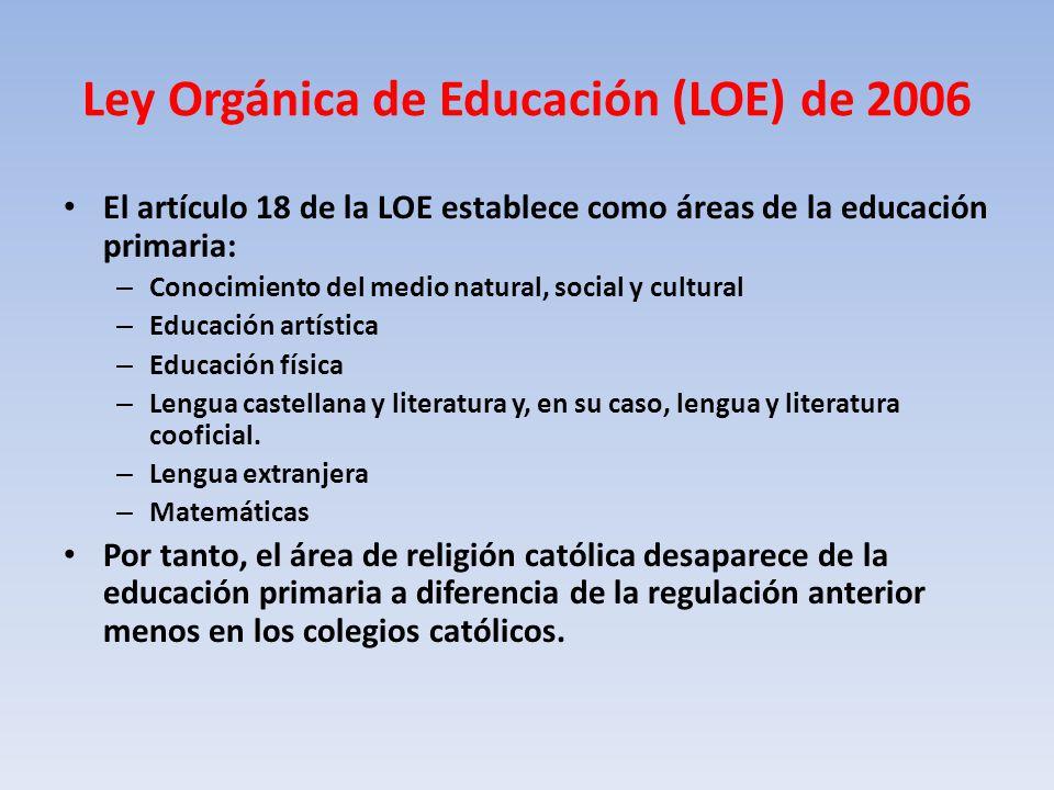 Ley Orgánica de Educación (LOE) de 2006