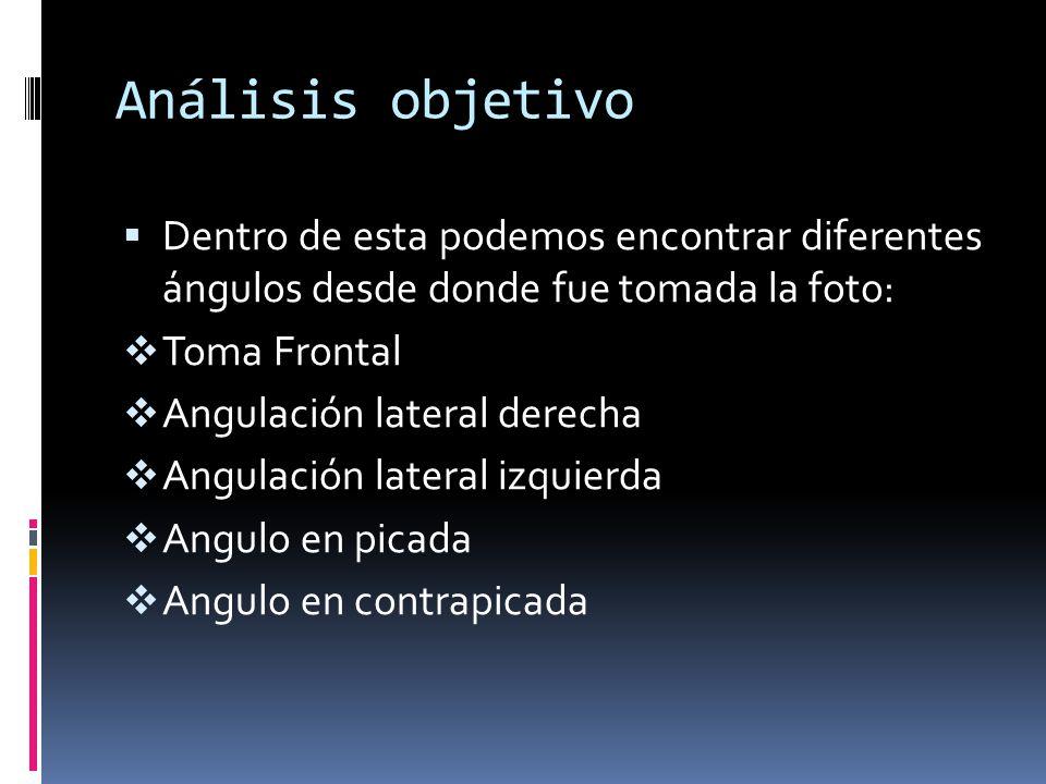 Análisis objetivo Dentro de esta podemos encontrar diferentes ángulos desde donde fue tomada la foto: