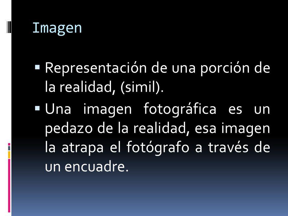 Imagen Representación de una porción de la realidad, (simil).