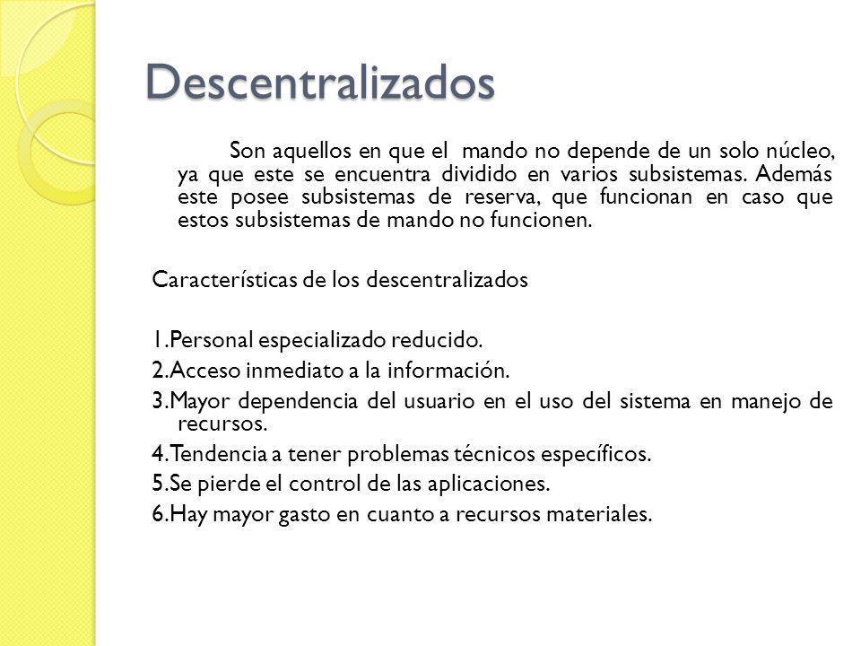 Descentralizados