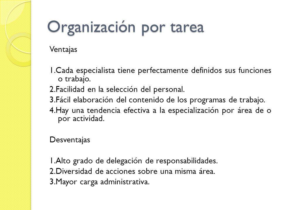 Organización por tarea