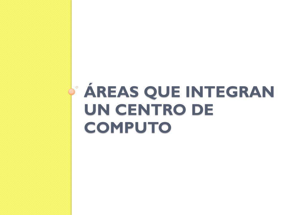 ÁREAS QUE INTEGRAN UN CENTRO DE COMPUTO