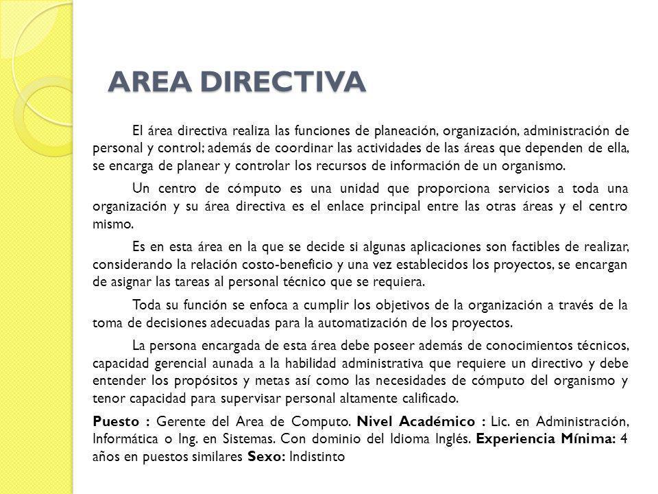 AREA DIRECTIVA