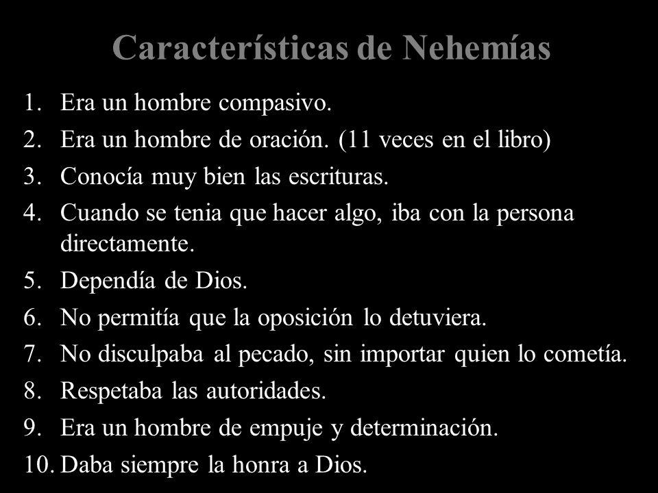 Características de Nehemías